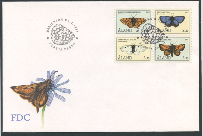 BUSTE FDC ISOLE ALAND
