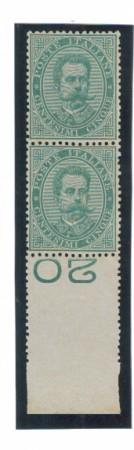 1879 - LOTTO/REG37NCP - REGNO - 5c. VERDE COPPIA - NUOVI