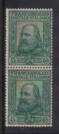 1910 - LOTTO/REG87NC - REGNO - 5+5c. GARIBALDI - COPPIA - NUOVI