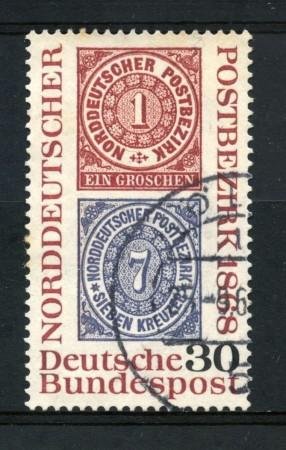 1968 - GERMANIA FEDERALE - 30p. CENTENARIO FRANCOBOLLI - USATO - LOTTO/30951U