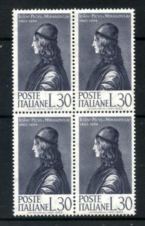 1963 - LOTTO/6410Q - REPUBBLICA - PICO DELLA MIRANDOLA - QUARTINA NUOVI