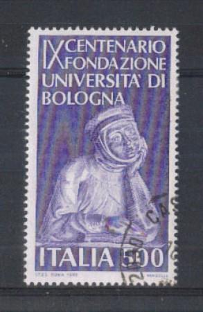 1988 - LOTTO/6899U - REPUBBLICA - UNIVERSITA' DI BOLOGNA - USATO