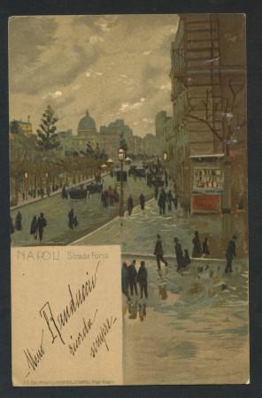 1900 - ITALIA - NAPOLI - STRADA FORIA - CARTOLINA A COLORI - LOTTO/28283