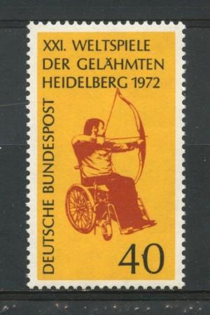 1972 - GERMANIA - CONCORSO PARAPLEGICI - NUOVO - LOTTO/31059
