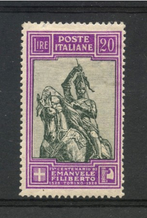 1928 - REGNO - 20 LIRE EMANUELE FILIBERTO - LINGUELLATO - LOTTO/REG238L