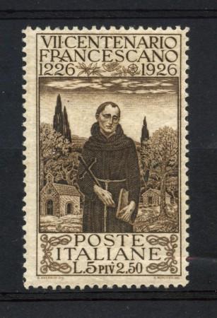 1926 - REGNO - 5+2,50 LIRE SAN FRANCESCO - LINGUELLATO - LOTTO/11515