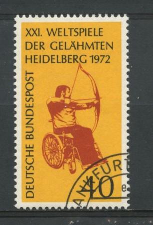 1972 - GERMANIA - CONCORSO PARAPLEGICI - USATO - LOTTO/31059U