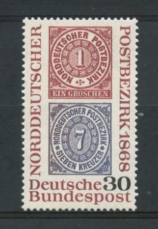 1968 - GERMANIA FEDERALE - 30p. CENTENARIO FRANCOBOLLI - NUOVO - LOTTO/30951
