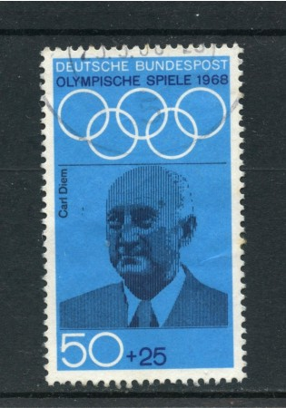 1968 - GERMANIA FEDERALE - 50+25p. OLIMPIADI MESSICO - LOTTO/30946U