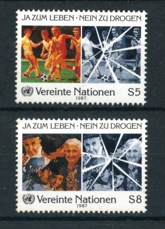 1987 - LOTTO/21461 - ONU AUSTRIA - SI  VITA NO  DROGA 2V.  NUOVI