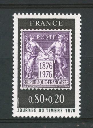 1976 - FRANCIA - GIORNATA DEL FRANCOBOLLO - NUOVO - LOTTO/30082
