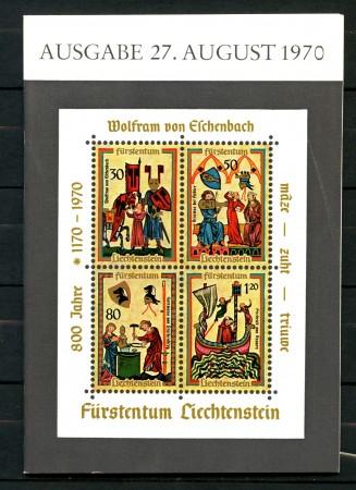 1970 - LIECHTENSTEIN - FOGLIETTO VON ESCHENBACH - USATO LIBRETTO POSTE - LOTTO/30411
