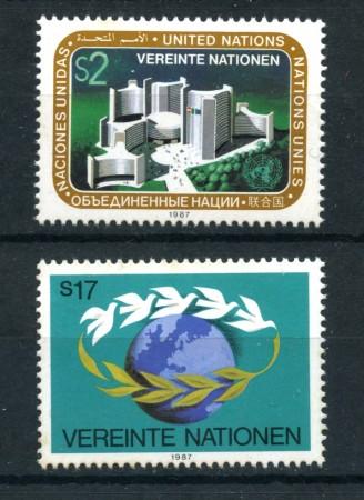 1987 - LOTTO/21462 - ONU AUSTRIA - POSTA ORDINARIA 2V. NUOVI
