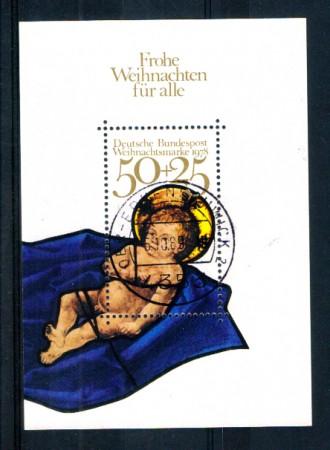 1978 - LOTTO/GFBF16U - GERMANIA - NATALE FOGLIETTO - USATO
