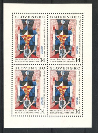 1993 - LOTTO/19548BF - SLOVACCHIA - EUROPA ARTE 1v. -  FOGLIETTO NUOVO