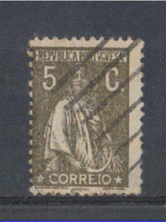 1923 - LOTTO/9669BU - PORTOGALLO - 5c. BRUNO - USATO