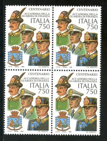1996 - REPUBLICA - GUARDIA DI FINANZA - QUARTINA NUOVI - LOTTO/2244Q