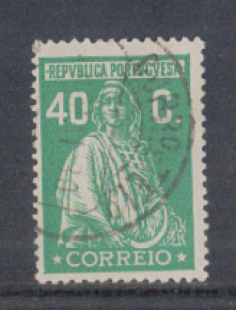 1926 - LOTTO/9679MU - PORTOGALLO - 40c. VERDE - USATO