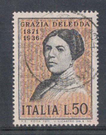 1971 - LOTTO/6548U - REPUBBLICA - GRAZIA DELEDDA USATO