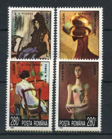 1993 - ROMANIA - EUROPA ARTE 4v. - NUOVI - LOTTO/27856
