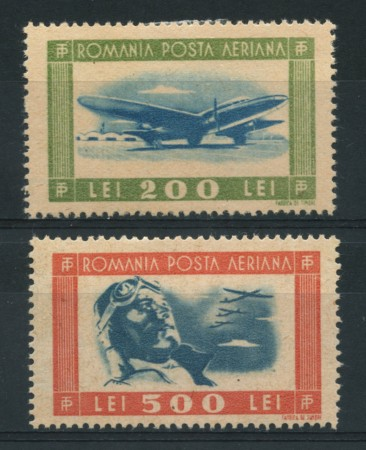 1946 - LOTTO/14543 - ROMANIA - POSTA AEREA  AVIAZIONE 2 v. - LING.