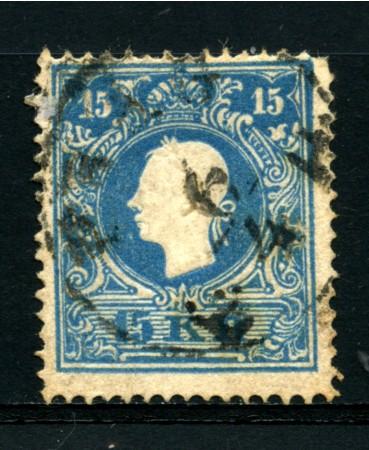 1859 - LOTTO/14114 - AUSTRIA - 15 Kr. AZZURRO - USATO