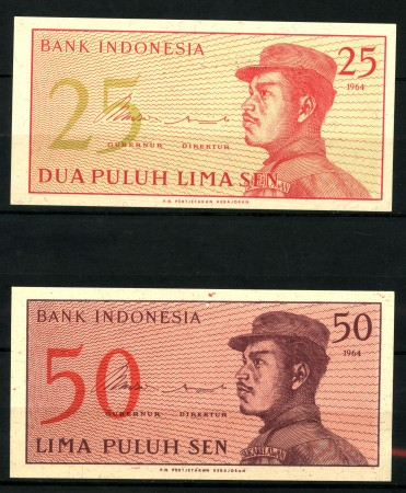 1964 - INDONESIA - 25 SEN/ 50 SEN - LOTTO/30173