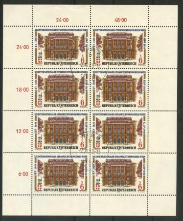 1989 - AUSTRIA - CONGRESSO A.I.D.P. - MINIFOGLIO USATO - LOTTO/29503