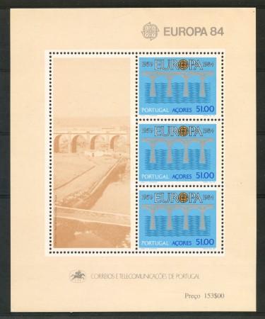 1984 - AZZORRE - EUROPA - FOGLIETTO NUOVO - LOTTO/29508