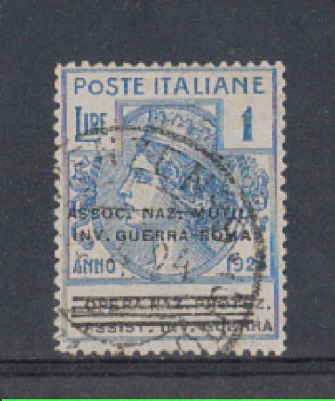 1924 - LOTTO/REGSS75U - REGNO - 1 L. ASS. NAZ. MUTIL. INV. GUERR