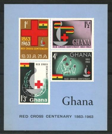1963 - GHANA - CENTENARIO CROCE ROSSA - FOGLIETTO NUOVO - LOTTO/29520