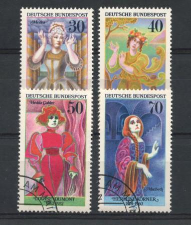 1976 - LOTTO/18983U - GERMANIA FEDERALE - ATTRICI CELEBRI 4v. - USATI