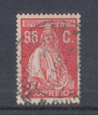 1926 - LOTTO/9679RU - PORTOGALLO - 96c. ROSSO - USATO