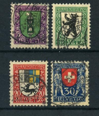 1925 - LOTTO/23850 - SVIZZERA - PRO JUVENTUTE 4v. - USATI
