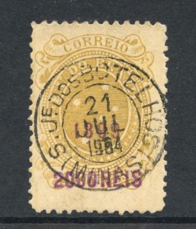 1899 - BRASILE - 2000 SU 1000 r. SOPRASTAMPATO - USATO - LOTTO/28830