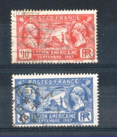 1927 - LOTTO/FRA245CPU - FRANCIA - LEGIONE AMERICANA - USATI