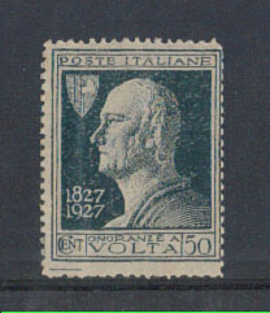 1927 - LOTTO/REG211UMA - REGNO - 50c. A.VOLTA  VARIETA'