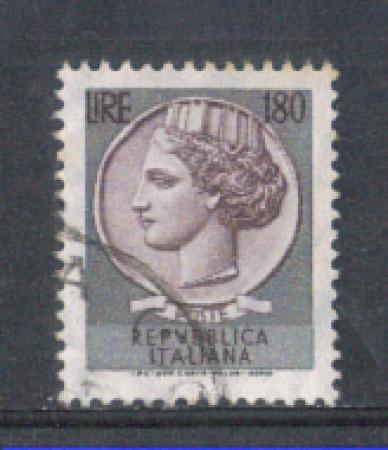 1971 - LOTTO/6550U - REPUBBLICA - 180 L. - SIRACUSANA USATO