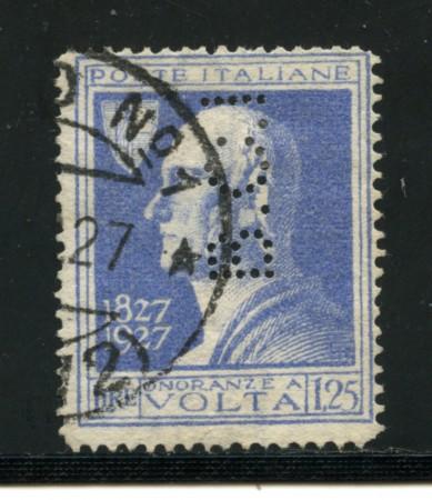 REGNO - LOTTO/16625 - 1,25 A. VOLTA - PERFIN USATO