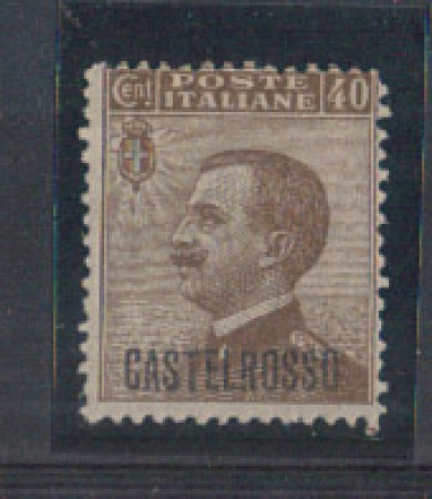 CASTELROSSO - 1922 - LOTTO/3378 - 40c. BRUNO