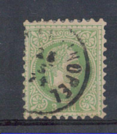 1867 - LOTTO/3693A - AUSTRIA LEVANTE - 3 Sld. VERDE
