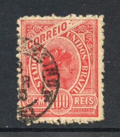 1900 - BRASILE - 100r. ROSA - USATO - LOTTO/28834