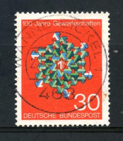 1968 - GERMANIA FEDERALE - 30p. SINDACATI TEDESCHI - USATO - LOTTO/30950U