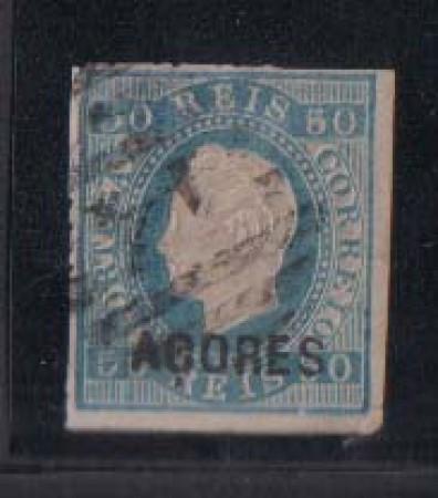 1871/79 - LOTTO/1795 -  AZZORRE - 50r. BLU - USATO