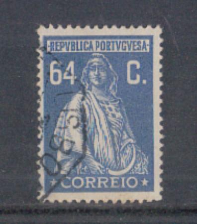 1926 - LOTTO/9679PU - PORTOGALLO - 64c. AZZURRO - USATO