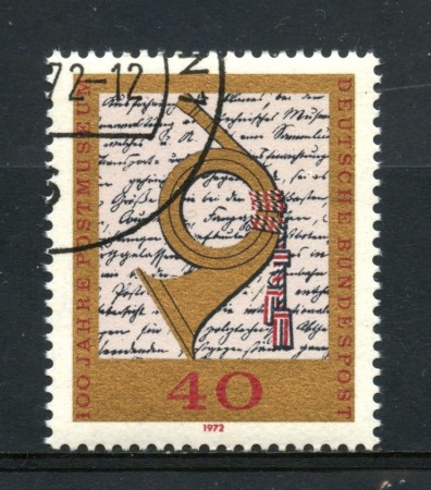 1972 - GERMANIA - CENTENARIO MUSEO POSTALE - USATO - LOTTO/31062U