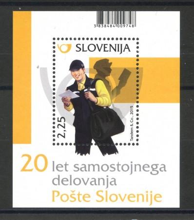 2015 - SLOVENIA - ANNIVERSARIO DELLE POSTE  FOGLIETTO - NUOVO - LOTTO/34598