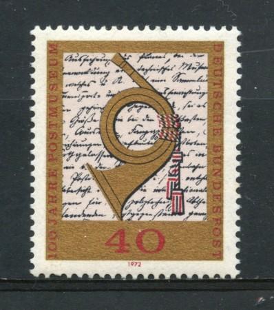 1972 - GERMANIA - CENTENARIO MUSEO POSTALE - NUOVO - LOTTO/31062