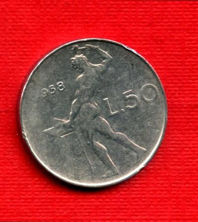 1958 - LOTTO/M21696A - REPUBBLICA - 50 LIRE VULCANO I° TIPO
