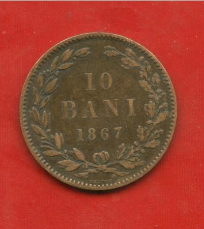 1867 - ROMANIA - 10 BANI RAME - LOTTO/M31681